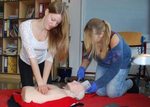Erste Hilfe Übung