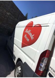 Transportmittel für den Non-Profit Verein Rollende Herzen.